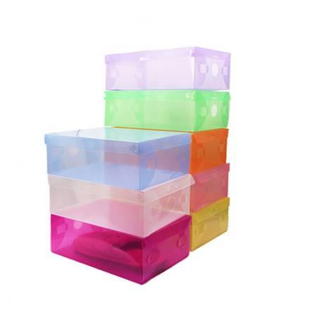 星空夏日 10只装翻盖式透明鞋盒儿童款 白色