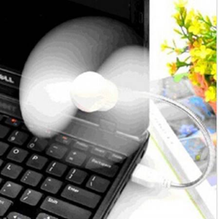 红兔子 USB扭曲蛇形超强大风力小风扇笔记本电脑USB移动电源小风扇 颜色随机