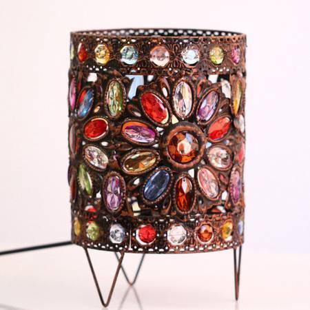 红兔子尼泊尔风手工复古欧式彩色亚克力台灯 浪漫华丽 婚庆饰品 结婚礼物 款式随机
