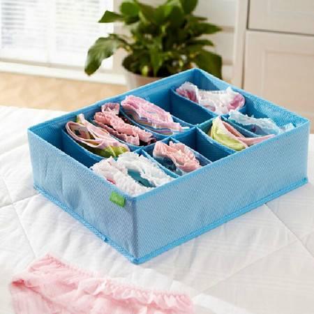 红兔子五个装12格彩色内衣袜子无盖收纳盒颜色随机