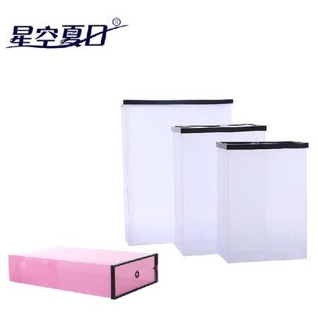 星空夏日30只装鞋柜式透明鞋盒 靴子鞋盒 靴盒白色