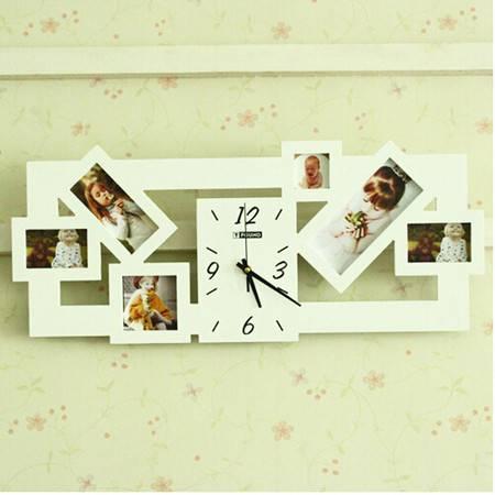 红兔子艺术相框挂钟/艺术挂钟/钟表/墙钟 静音扫描
