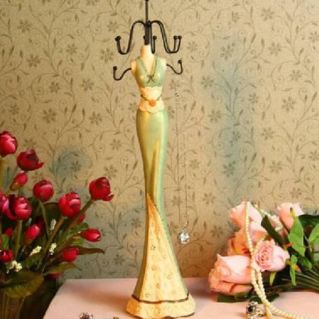 红兔子 美女模特 韩式首饰架/置物架 树脂手绘 淡绿