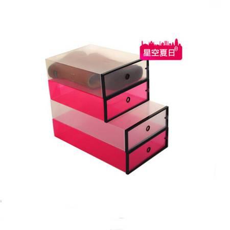 星空夏日 10只装靴子收纳盒 透明鞋盒短靴白色