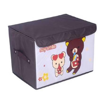 友纳 牛津布卡通系列印花卡通收纳箱 儿童玩具卡通收纳盒 收纳箱(巴比小熊)