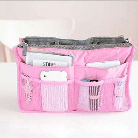 红兔子 包中包 收纳包 整理包 加厚带手提多功能收纳整理包 内包粉色