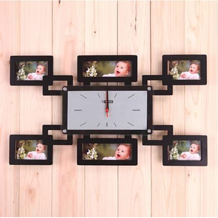 红兔子排列相框 创意挂钟/创意钟表/时尚挂钟