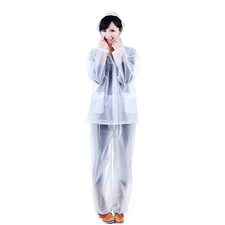 红兔子纯色分体式雨衣雨裤套装-L码 白色(818)