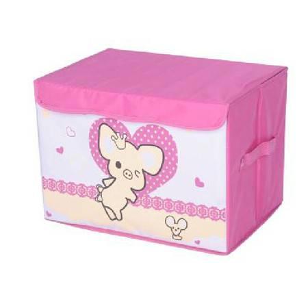 友纳 牛津布卡通系列印花卡通收纳箱 儿童玩具卡通收纳盒 收纳箱(爱心呼呼猪)