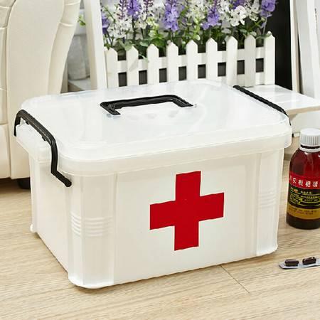 家庭小号药箱多层急救收纳保健箱子家用塑料整理箱收纳箱药箱