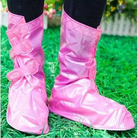 红兔子可调节防雨鞋套粉色M码