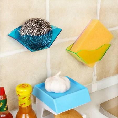 YL双吸盘厨房用海绵沥水架 卫生厨房杂物收纳架 绿色