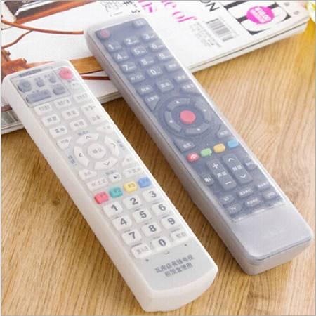 家居电视机遥控器套 遥控器罩硅胶保护套防灰尘防水套A款 两个装