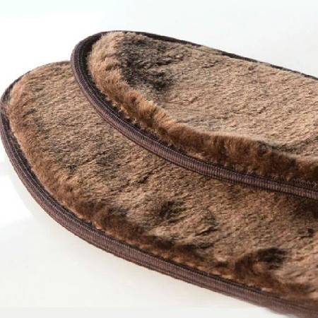 耀点100 冬季必备加厚保暖鞋垫 细腻蚕绒棕色吸汗除臭抗菌 43码 3双9.9