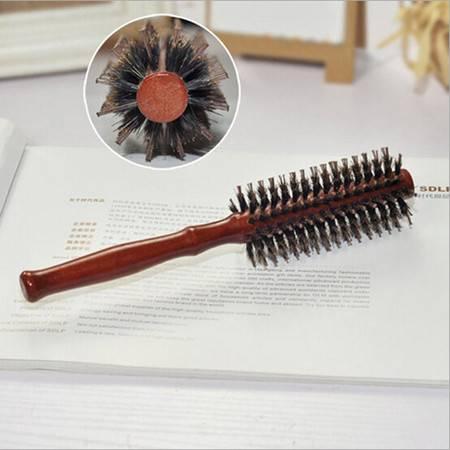 猪鬃毛梳卷发梳子 滚梳吹直发梨花头造型梳精品圆筒梳子 直发卷梳子