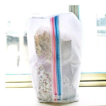 耀点100 创意家居 新式桶型双层洗衣袋 细网护洗袋 洗衣必备