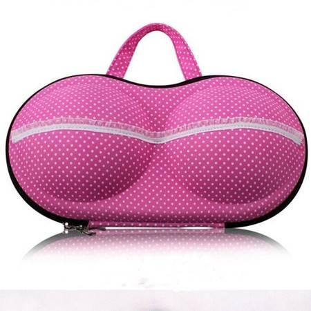 便携式旅行内衣文胸收纳盒 内衣收纳包防压收纳包粉色圆点均码