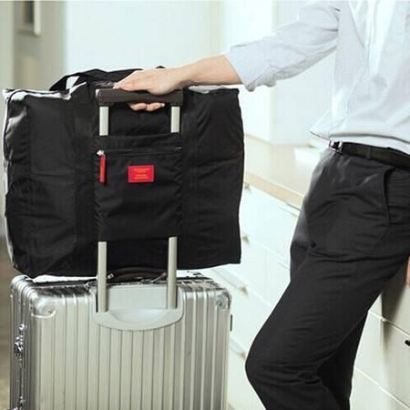 防水尼龙折叠式旅行收纳包 旅游收纳袋 男女士衣服整理袋黑色
