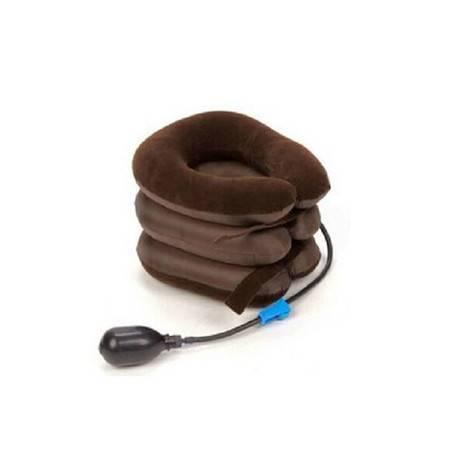 耀点100 植绒颈椎牵引器 家用颈椎充气牵引器颈托