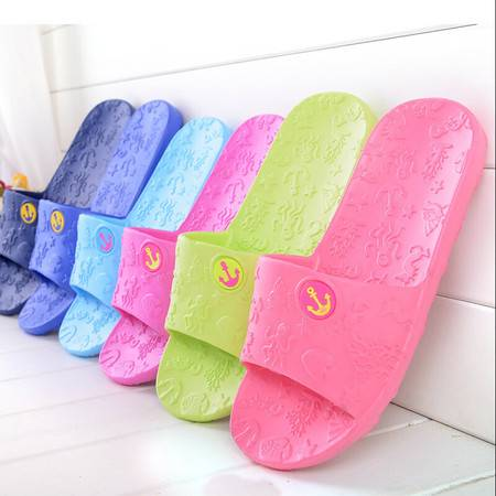 情侣家居拖鞋 浴室拖鞋 海洋款男款拖鞋 夏季 室内拖鞋 43码 海蓝色