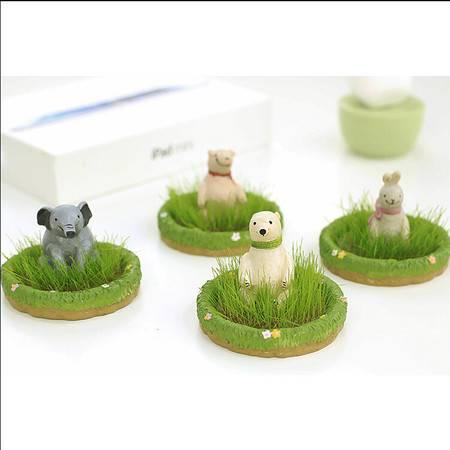 E先生高尔夫球场栽培 OEM树脂礼品 DIY迷你玩具 兔先生