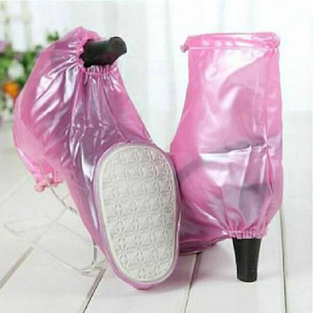 高跟鞋防水鞋套粉色XL码