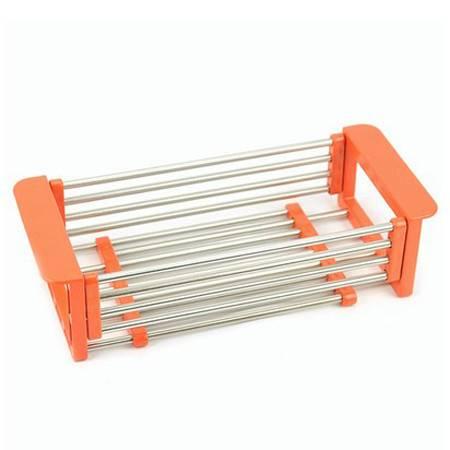 不锈钢伸缩水槽沥水架/洗菜篮