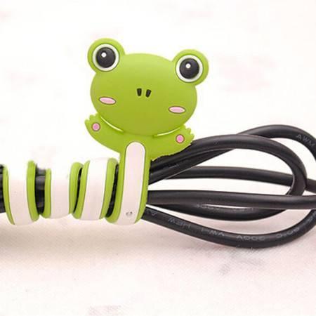 Q版卡通动物绕线器 创意家居双头理线器 三个装