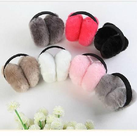 冬百搭日韩流行时尚毛绒耳罩/保暖耳套 颜色随机2只