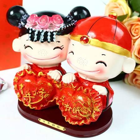 中国风婚庆摆件人偶摆件情人节礼物千年修得共枕眠中号