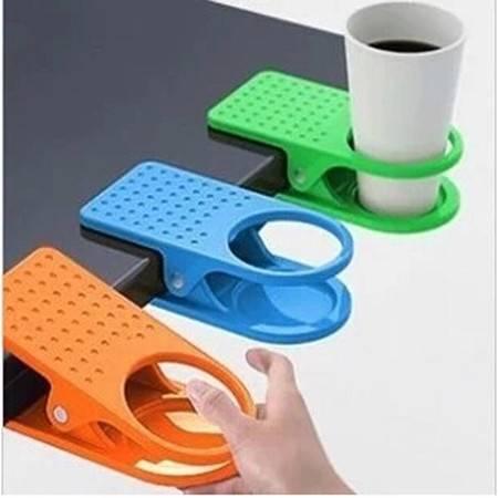 桌边水杯夹 大夹子桌边夹杯托 厨房餐桌用品 颜色随机 2只