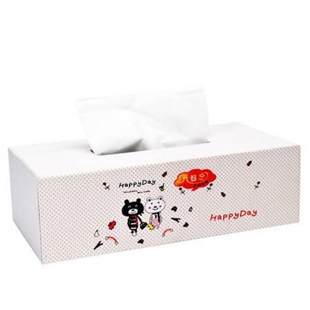 开馨宝韩版小熊方形纸巾盒/时尚纸巾盒(KXB-8814)