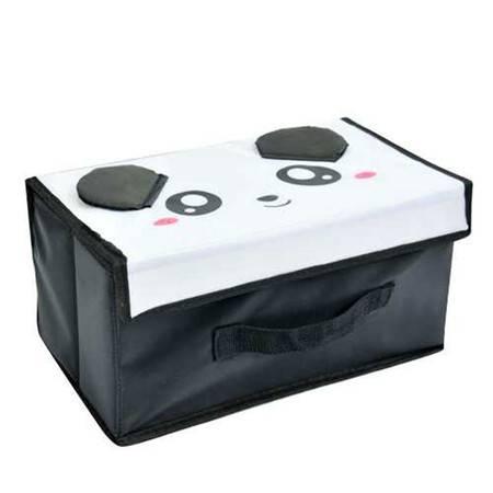 开馨宝可爱动物小号收纳箱/整理箱/储物箱-熊猫(K8217)