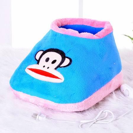 享优优系列大嘴猴可插电式两档调温型卡通电暖鞋/可拆洗暖脚宝两款可选择