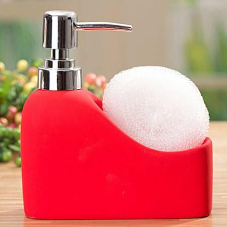 陶瓷卫浴洗手液瓶洗漱用品 洗发露家居卫浴洗手液瓶 红色