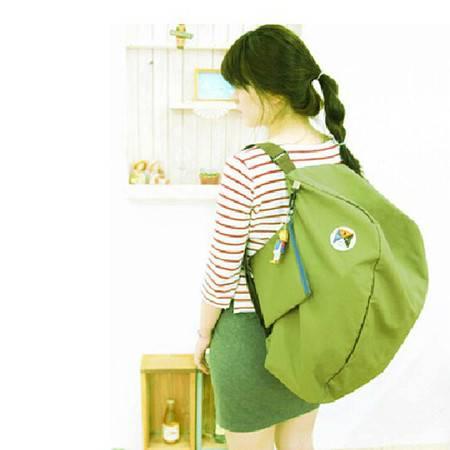 多功能变换可折叠收纳包 单肩包 双肩背包绿色