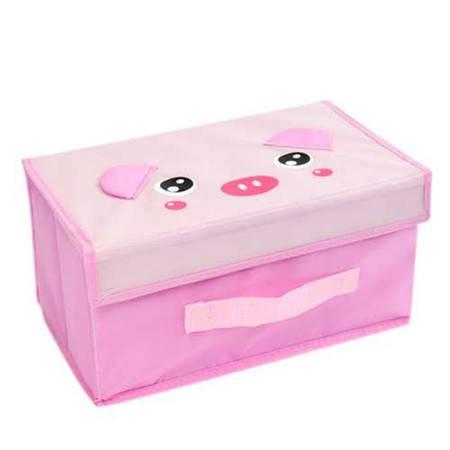 宝可爱动物小号收纳箱/整理箱/储物箱-粉猪