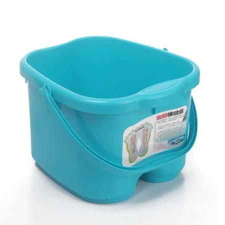 圣强 脚底按摩功能 塑料足浴桶 洗脚盆 洗脚桶足浴盆(蓝色)