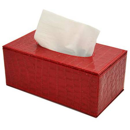 开馨宝奢华长方形纸巾盒-红色鳄鱼纹(K8504-2)