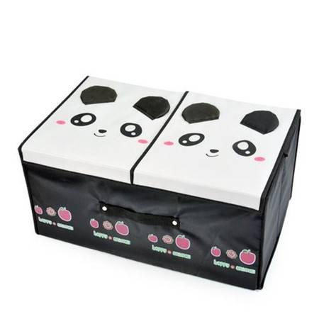 开馨宝可爱动物双盖毛衣收纳箱/整理箱-熊猫(K8225)
