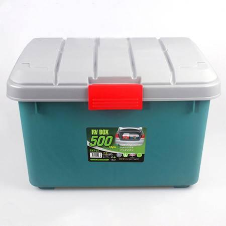 圣强 车载箱 收纳箱塑料大号 整理箱 储物箱 环保无味 承重120KG绿色