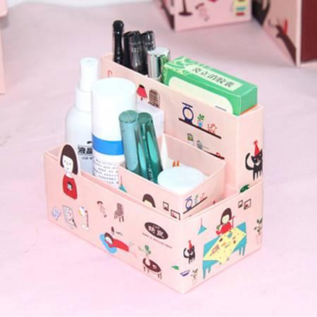 畸良正品 收纳盒 桌面收纳盒 小女孩系列 饰品盒 小文件盒 2只装
