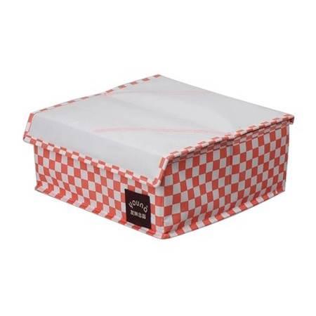 友纳 收纳盒 内衣收纳盒牛津可组合收纳盒16格袜子衣物整理盒30*30*12 粉色 L9106