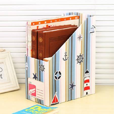 畸良韩国DIY格子 桌面收纳盒桌面整理盒文件收纳盒(爱情海) 3只装