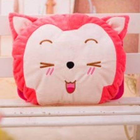 可爱卡通可拆洗双插手热水袋电暖袋暖手袋 粉色阿狸