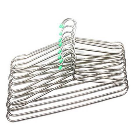 不锈钢空心管挂衣架/晒衣架(10个装)