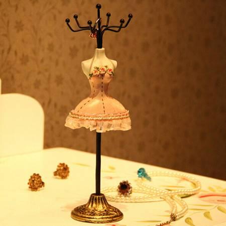 普润 25CM模特首饰架 饰品挂架 多色抹胸礼裙粉色