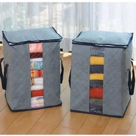 卡秀高品质竹炭系列衣物储存袋 毛衣物防异味防霉防潮收纳袋50*47*28灰色L4107
