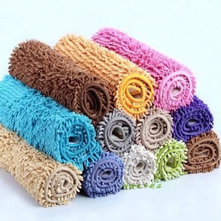 雪尼尔超细纤维地毯 地垫 50*80cm 颜色随机