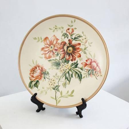 手绘装饰盘桌面摆件陶瓷圆盘 手绘装饰盘
